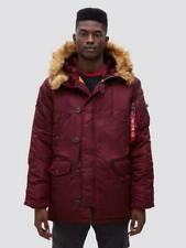 UO Alpha Industries Slim Fit N-3B Parka Coat in Wine Men's Size Large