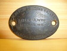 HENSCHEL: Original-Kesselschild aus Messing von 1919 !!!