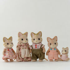 Sylvanian Families STRIPED CAT FAMILY Calico Critters Epoch Japan