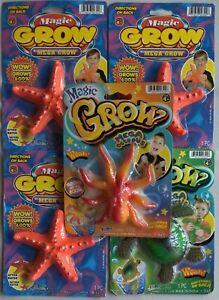 *Lot Of 5*Magic Grow Animals: Mega Star Fish(3), Mega Turtle(1), Mega Octopus(1)