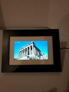 "New Polaroid Digital Photo Frame 7"" Screen Black PDF-700 No PC Required 800x480"
