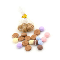 8/9/10Pcs/Bag Dollhouse Miniature Macaron Food Dessert 1:12 Dollhouse Decor XJ