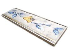 Fliesenbordüren 23,5x7cm Keramik Fliesen Bordüren Bad Bordüre ROS102 blau grau
