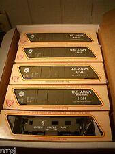 HO  IHC US ARMY TRAIN SET US ARMY 4 BOX CARS & CABOOSE  FOUR ROAD # BBM-1001 USA