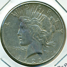 1923-S PEACE DOLLAR, VERY FINE, GREAT PRICE!
