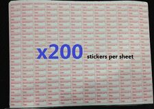 x200 VOID warranty sticker screw labels Tamper repair for iphone 4 5 6 plus gear