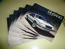 1980 Ford Mustang Sales Brochure - Lot of 6 Package