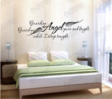 """Guardian Angel I sleep"" stickers wall Quote Removable Art Vinyl Decor Hom decal"