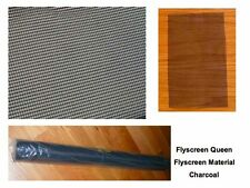 Flyscreen Material Insect Screening in Charcoal 1.2M Wide sold by the Metre