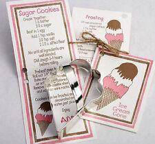 NEW Ann Clark Tin Ice Cream Cone Cookie Cutter w/ Recipe Card Attatched Made USA