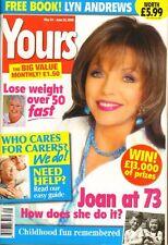 JOAN COLLINS  - BRITISH Magazine YOURS 'Joan At 73' April 2006 C#41