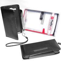 custodia eco pelle a libro nera cover protezione per Huawei Ascend Y520