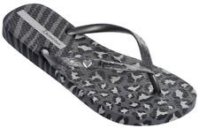 Ipanema Women`s Flip Flops Wild Sandal Gray and Silver Brazilian Sandals NWT