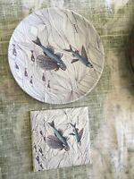 Barbados Flying Fish Souvenir Decorative Plate Wall Hanger Set Of 2
