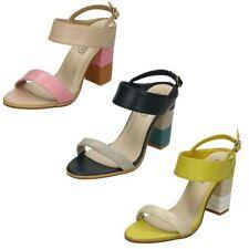 Block Synthetic Upper Multi-Coloured Heels for Women