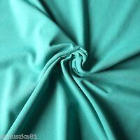 Jersey Stoff Uni SMARAGD EMERALD Baumwolljersey Einfarbiger Jerseystoff