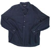 Slate & Stone Mens Shirt Navy Blue Size 2XL Polo Long Sleeve Buttoned $59- #377