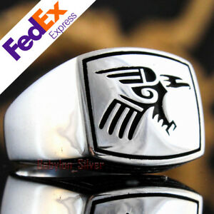 Eagle Design 925 Sterling Silver Turkish Handmade Luxury Men's Ring All Size