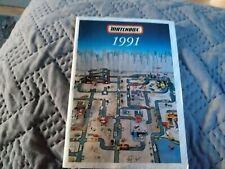 Matchbox models catalogue 1991 excellent condition
