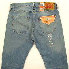 Levis 501 Jeans New Original Mens Size 34 x 30 LIGHT STONE WITH FADE Button Fly