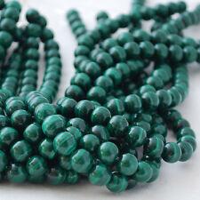 Grade A Natural Malachite (green) Gemstone Round Beads - 4mm 6mm 8mm 10mm