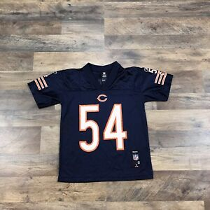 Chicago Bears Brian Urlacher Jersey Youth Kids Boys Small NFL Football On Field