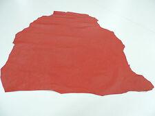 Maroquin rouge 1 Peau environ 0,60 qm jusqu'à 0,65 qm Cuir véritable