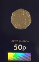 BRILLIANT Uncirculated 50p pence Peter Rabbit 2018 Beatrix Potter coin CERTIFIED