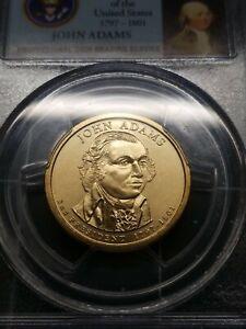 2007 PCGS MS67 Obverse Die Gouge John Adams Dollar Mint Error Rare Date