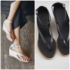 High (3 in. and Up) Leather T-Strap Sandals & Flip Flops for Women