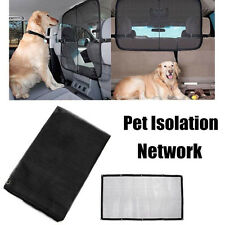 Pet Dog Safety Travel Isolation Net Car Truck Van Back Seat Barrier Mesh Black