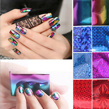 10Pcs Foils Finger Nail Art Sticker Water Transfer Tips Decors Manicure Beauty