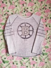 Boston Bruins CCM NHL Hockey Womens Large Gray Sweatshirt small stain on back