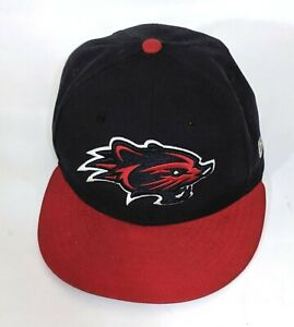 New Era New Hampshire Fisher Cats 59Fifty Fitted Road Hat Size 7 1/4 Away 5950