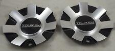 Touren Wheels Silver / Gloss Black Custom Wheel Center Cap Caps Set 2 # C-216-3