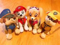 "Set of 4 NWT Nickelodeon Paw Patrol Character Puppy Dog 8"" Plush Dolls"