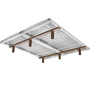Unterbau für Lattenroste für Bett 180x200-220 cm | 2x Querleisten mit Füße