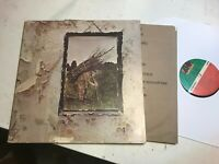LED ZEPPELIN IV LP ZOSO sd7208 gatefold 4 four vinyl w/lyric RUNES peckoduck MR!