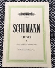 Schumann Lieder I (1), medium voice for voice and piano sheet music score