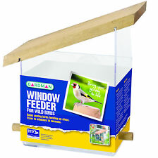 WINDOW FEEDER Gardman Bird Table Wood Plastic Watch Close| FREE Fast Delivery!