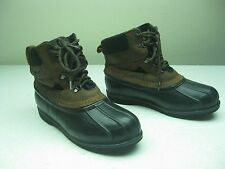 L.L. BEAN BOOTS made in usa BROWN FARM & RANCH HUNTING DUCK BOOTS SIZE 10 m