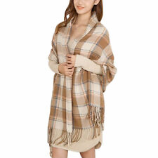 Womens Lady Winter Warm Tartan Check Neck Shawl Scarf Wrap Stole Plaid Pashmina