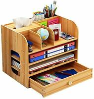 Trays Stationery Holder, File Rack Wood D Multi-Layer File Tray Document