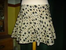 Black Laura Lees at TopShop Animal Print Ocelot Skirt Large BNWT 46 euros Sexy