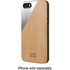 Native Union - CLIC Metal Case for Apple® iPhone® 5 and 5s - Tan/Stainless-Steel