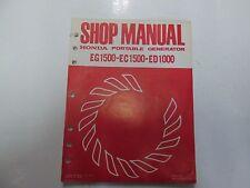 1978 Honda EG1500 EC1500 ED1000 Portable Generator Shop Manual LOOSE LEAF OEM***