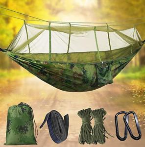 Hängematte mit Moskitonetz, Doppel-Camping-Hängematten Hängemattenbet Outdoor
