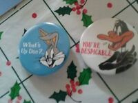 LOONEY TUNES DAFFEY DUCK AND BUGS BUNNY VINTAGE PINS