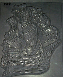 ONE LARGE SAILING SHIP CHOCOLATE MOULD OR PLASTER MOULD