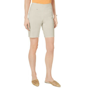 INC Womens Shorts Toad Polished Beige Size 10 Bermuda Pull On Stretch $49 595